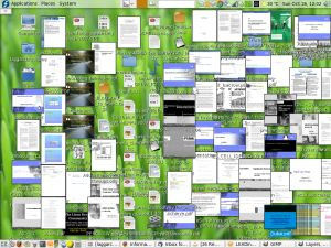 Screenshot from a user that stores all documents on his desktop folder